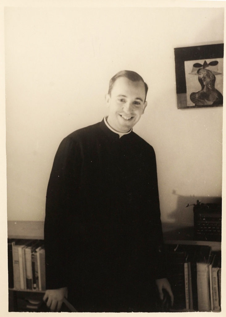 Pope Francis as a young priest.