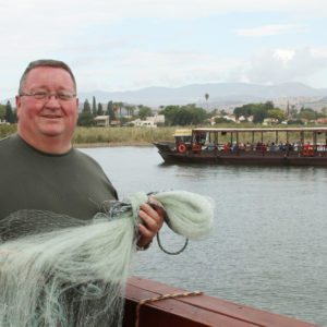 Father Gary Dailey on the Sea of Galilee
